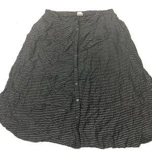 Women's Plus Size 2X Merona Striped Long Skirt